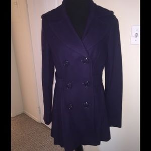Miss Sixty Jackets & Blazers - Miss Sixty Purple Pea Coat