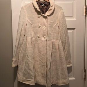 Lux Jackets & Blazers - White peplum coat