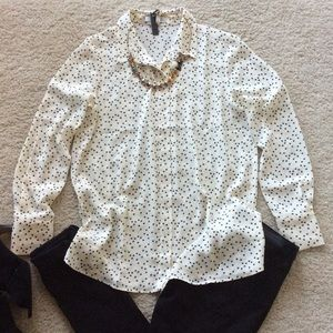 Mango Tops - MANGO Star Print blouse