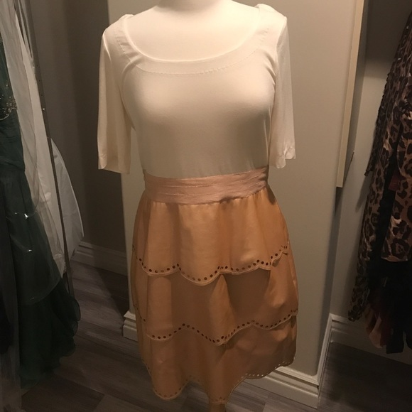 Phoebe Couture Dresses Plus Size Rose Gold Leather Peplum Dress