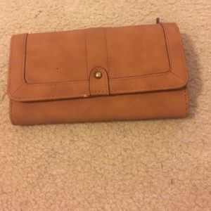 Brown faux leather wallet