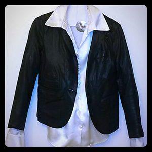 Yigal Azrouel Jackets & Blazers - Yigal Azourel Black Leather Blazer
