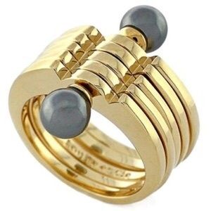 Louise et Cie Faux Pearl Stacked Ring NWOT