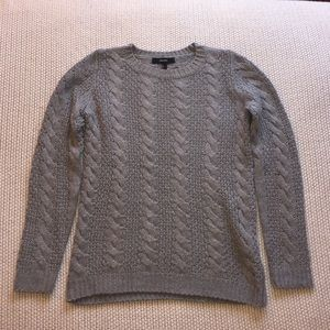 Forever 21 Gray Cable Knit Sweater S