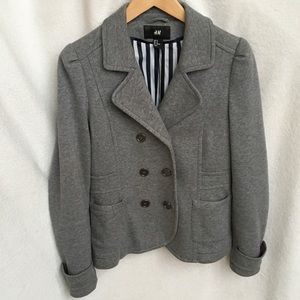 H&M Jackets & Blazers - VERSATILE! Gray Double-breasted fully lined jacket