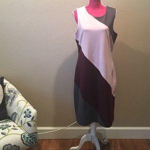 Banana Republic Colorblock Midi Dress