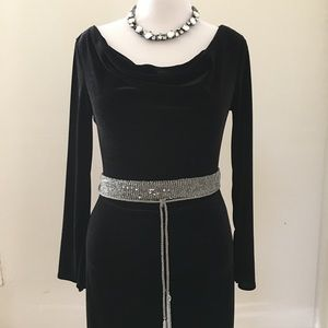 BCBG Paris Dresses & Skirts - BCBG Paris Black Velvet Dress