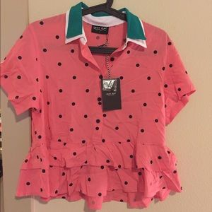 Lazy Oaf Tops - Lazy oaf watermelon blouse