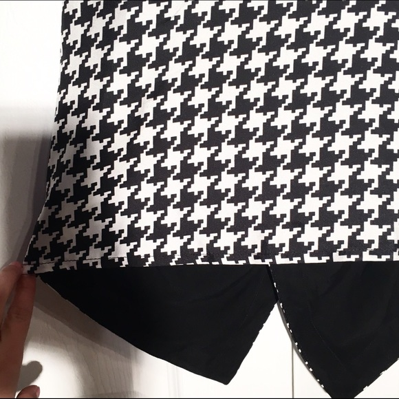 Julie Brown Tops - Checkered black and white tank