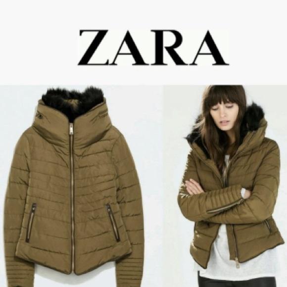 40% off Zara Jackets & Blazers - Zara Puffer Short Olive Green ...