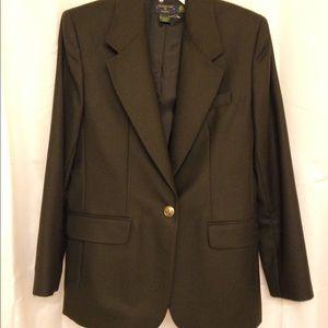Charter Club Jackets & Blazers - Olive & gold blazer wool blazer new VTG lined