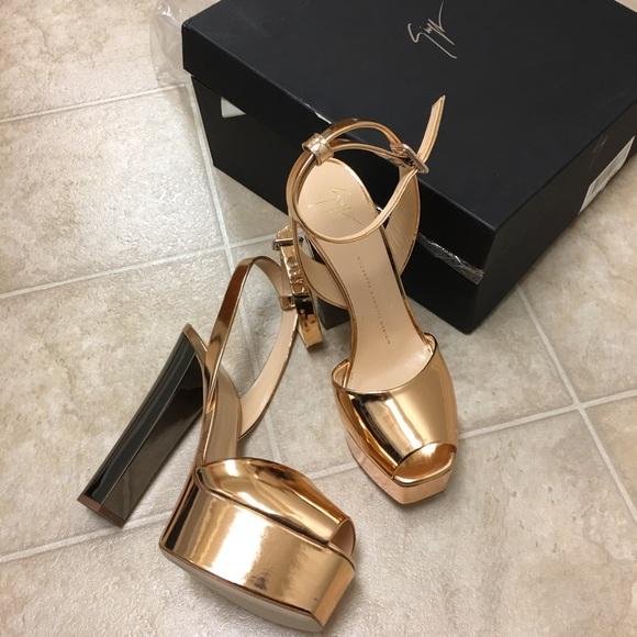 06536f4a433a Giuseppe Zanotti Shoes - Giuseppe Zanotti Betty Heels Rose Gold