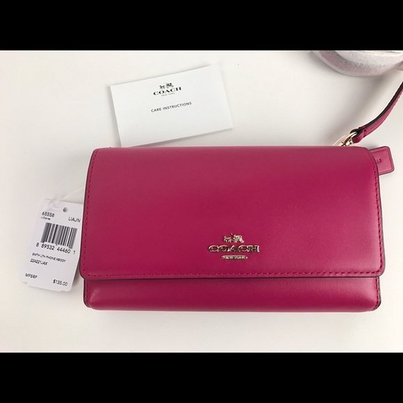 af2662e8ce Coach Phone Crossbody in Smooth Leather