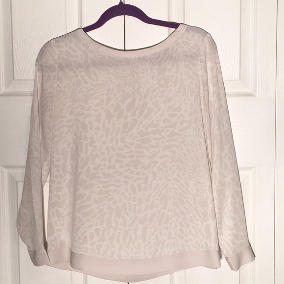 LOFT Tops - Leopard round neck long sleeve blouse