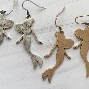 $6 CLEARANCE! Ariel Dangle Little Mermaid Earrings