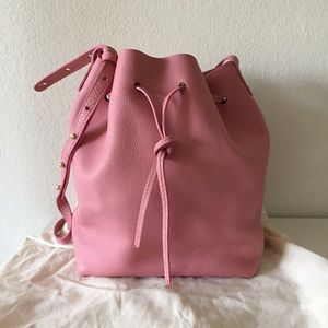 Mansur Gavriel Tumble Pink Bucket Bag