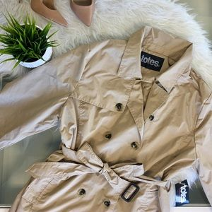 Classic Tan Double Breasted Trench Coat