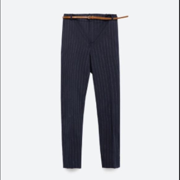 3468215a Zara pinstripe pants with belt. M_584c9acd7f0a05db7105232d
