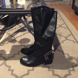 Guess Shoes - Black Riding Boots