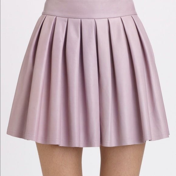 67% off Alice   Olivia Dresses & Skirts - Lilac leather skirt from ...
