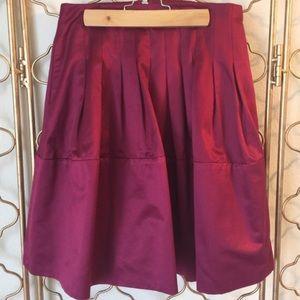 BCBGMaxAzria Raspberry Fuchsia Flare Skirt