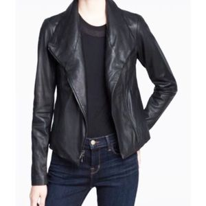 Barney's New York Black Leather Jacket