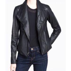 Barney's New York Black Leather Jacket