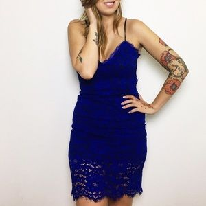 "NBD Dresses & Skirts - Cobalt Blue Lace ""All Me"" Dress"