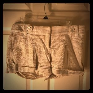 bebe Shorts - Bebe White cotton shorts