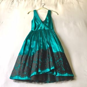 Plenty by Tracy Reese emerald green holiday dress