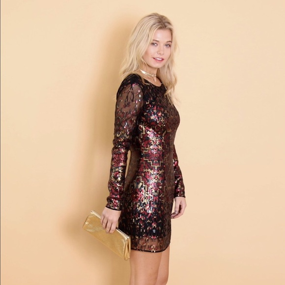a0928635ff The Jetset Diaries Tapestry Sequin Mini Dress