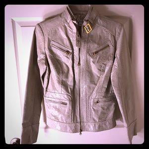 Cache Patent leather snake skin jacket