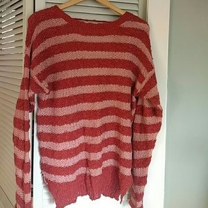 Unique cotton knit sweater