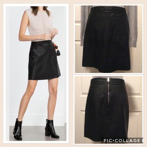 ed0c95c7e1 Faux Leather A-line Mini Skirt. M_584cb461eaf0303e54003a98