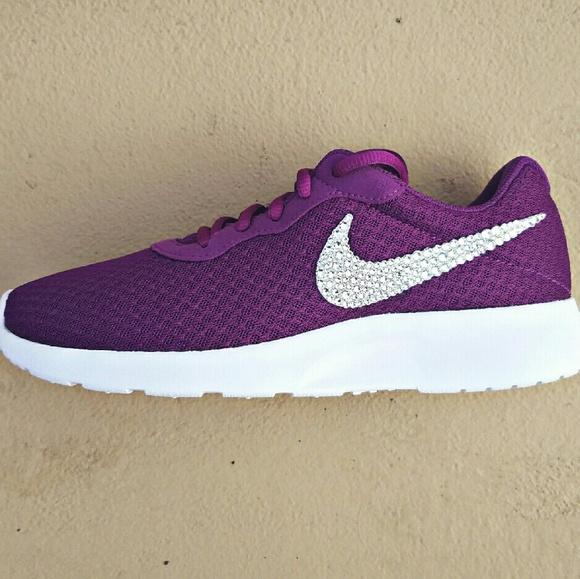 ac6e46b890 Nike Shoes | Sale Swarovski Crystal Bling Tanjun Purple | Poshmark