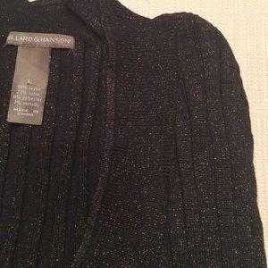 Hillard & Hanson Sweaters - Hillard & Hanson Black &Gold V-Neck Sweater