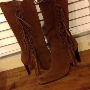 MIA Shoes - MIA Tierney Suede Fringe Boots
