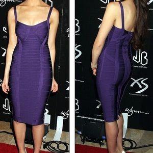 Herve Leger Dresses & Skirts - Herve Leger Judith Purple Dress