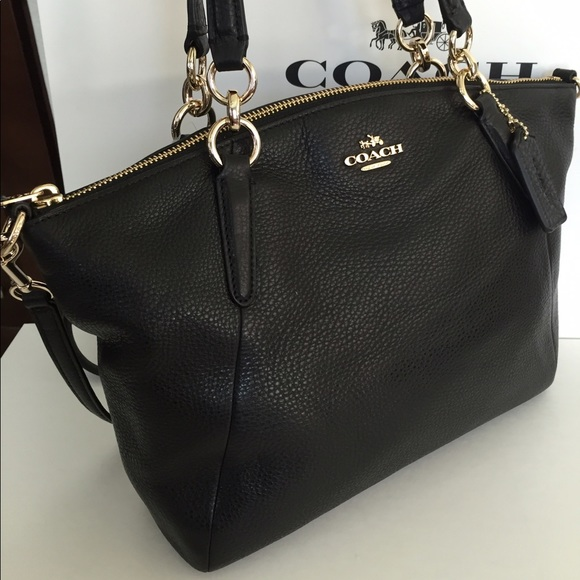 8535f8f9dc88 ... Coach Bags - COACH SMALL KELSEY SATCHEL IN PEBBLE LEATHER BLACK ...
