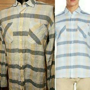 Billy Reid Other - NWT Mens 100% Linen Billy Reid Bennet Plaid Shirt