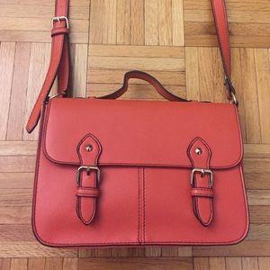 Topshop Orange Faux Leather CrossBody Bag -NOTRADE