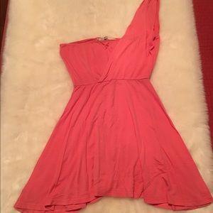 Dresses & Skirts - Pink one shoulder Dress