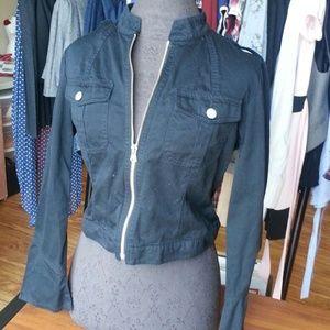 Willi Smith Jackets & Blazers - Black Crop Jacket