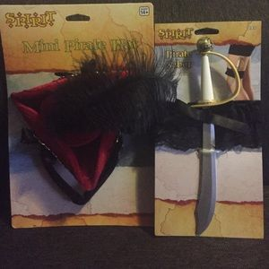Accessories - BUNDLE!! Pirate hat with attached headband & Saber
