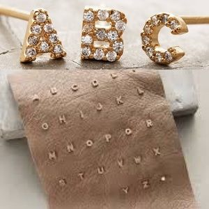 Anthropologie Jewelry - Anthropologie 'B' Initial Earrings