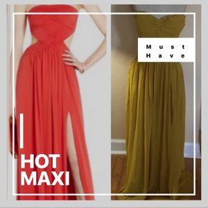 ⬇️ FLOOD SALE 💌 MAXI DRESS MUSTARD YELLOW NWT