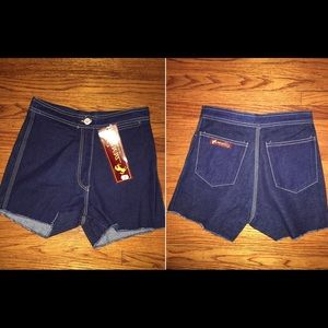 Carrera Pants - High Waist Vintage Carrera Denim Shorts, Size 3