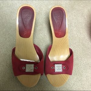 Chanel Wooden Heels