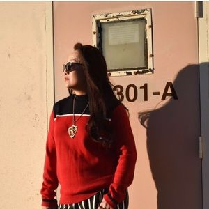 Forever 21 Sweaters - Red, Black & White Sweater