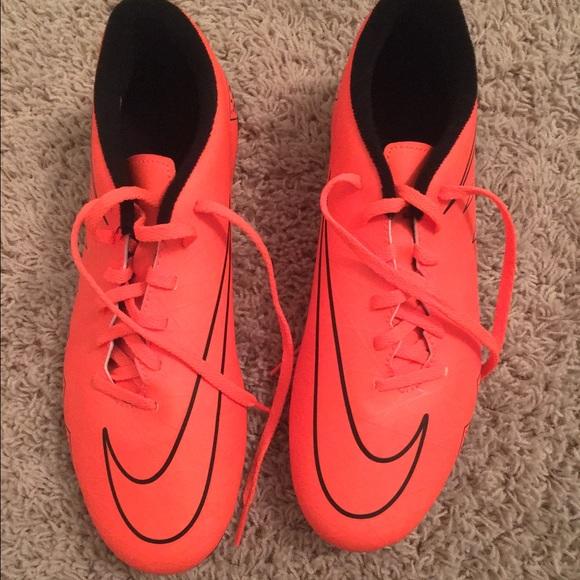 Neon Orange Boys Nike Soccer Cleats